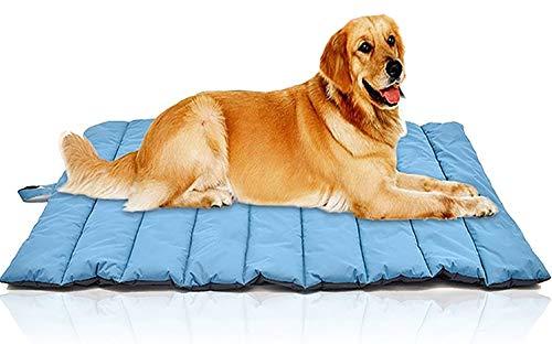 orange Outdoor Dog Bed Waterproof, Travel roll on Dog Sleeping Rest pad Extra Large Outdoor Indoor car seat Floor Lawn Sofa pet pad Durable Blanket Mattress (orange)