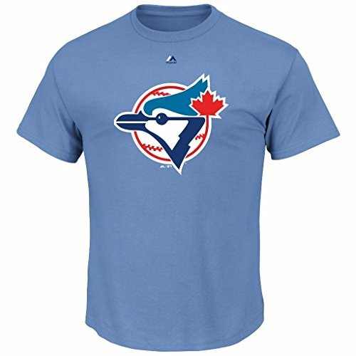 Majestic MLB Youth Cooperstown Official Logo Team T-Shirt (Youth Large 14/16, Toronto Blue (Cooperstown Team Logo T-shirt)