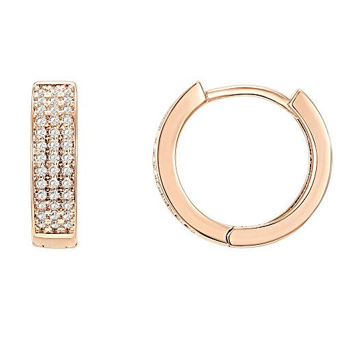 PAVOI 14K Rose Gold Plated Cubic Zirconia
