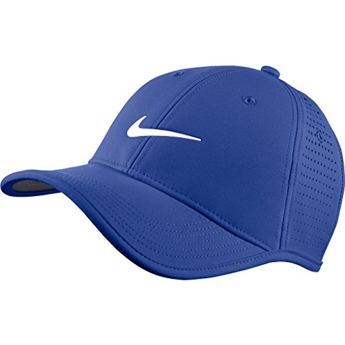 Nike Golf 2016 Dri-Fit Ultralight Tour Perforated Adjustable Mens Golf Cap Game Royal/White