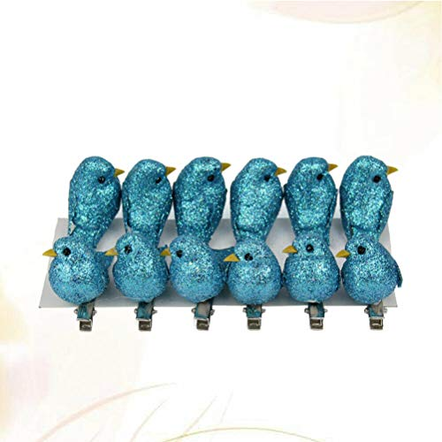 (12 Pcs Bird HHairpins Simulated Bird Headdress Headwear Clip Decoration for Women (Color - Blue))