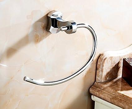 XHDWNBM Towel Bar Toalla Redonda Anillo Alrededor del Cobre Anilla para Colgar Las Toallas de baño