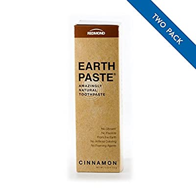 Redmond Earthpaste - Natural Non-Flouride Toothpaste, Cinnamon and Peppermint, 4 Ounce Tube