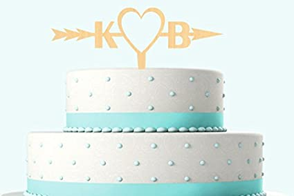 Amazon Com Initial Two Letters Cake Topper Shooting Love