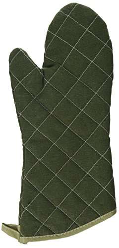 Winco Flame Resistant Oven Mitt, 15-Inch, Sage Green