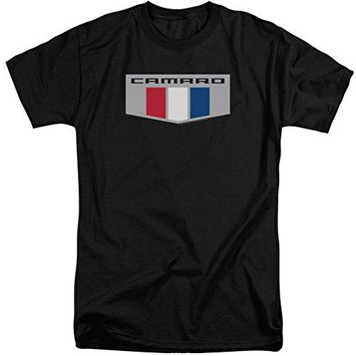 Chevrolet Camaro Chrome Emblem Logo Tall T-Shirt, Black, 3XLT