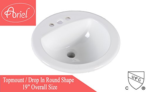 Oval 19 Lavatory Sink - 6