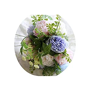 ONLY-FOR-ME-1 Artificial White Flower Bouquet Wedding Bouquet Handmade Leaves Pearl Flowers Bridesmaid Bouquets Hand Flowers,S1 13