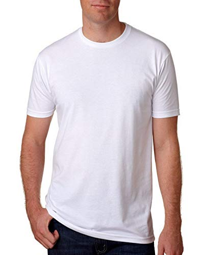 Next Level Premium Fitted CVC Crew Tee White X-Large (Pack of 5)