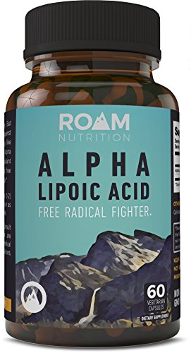 250mg Alpha Lipoic Acid by Roam Nutrition – 60 Vegetarian Capsules – Natural ALA Dietary Supplement: Antioxidant, Anti-Inflammatory, Anti-Aging Properties – Supports Cognitive, Cardiovascular Fu
