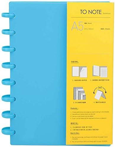 Loseblatt-Notizbuch Portable A5 Mushroom Hole Binder Nachfüllbares Briefpapier Notizbuch Büro Schulbedarf Klassisch Hart Premium Dickes Papier(08)