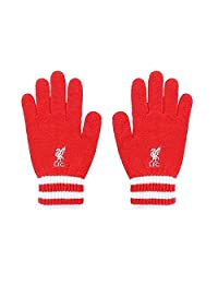 Liverpool FC Official Knitted Gloves (One Size) (Red/White)