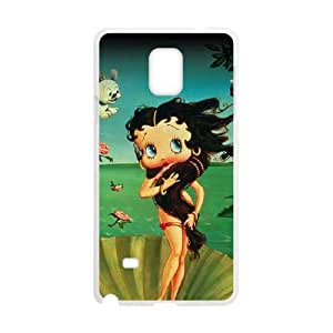 Samsung Galaxy Note 4 Cell Phone Case White Betty Boop at Sea LSO7755249