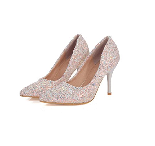 Stiletto High Ladies Shoes Pieces Shiny METERSWHITE Dress 38 Toe Large Size Heels Shallow Dance HIGHXE Shoes Pointed Party Mouth Pump Shoes wgv5wdq