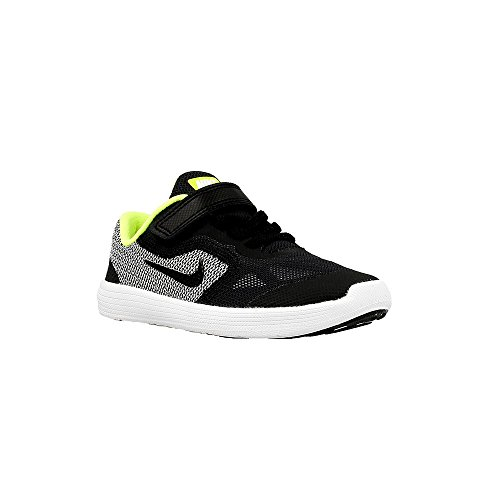 - Nike Kids' Revolution 3 (TDV) Running Shoe, Black/White/Volt, 7 M US Toddler