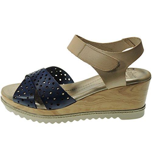 Sandals Women Calzados Blu For Romero scuro Zv0xwO8q