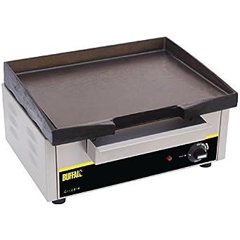 Buffalo Eléctrico Encimera Acero inoxidable Cocina Grill Parrilla 385 x 280 mm