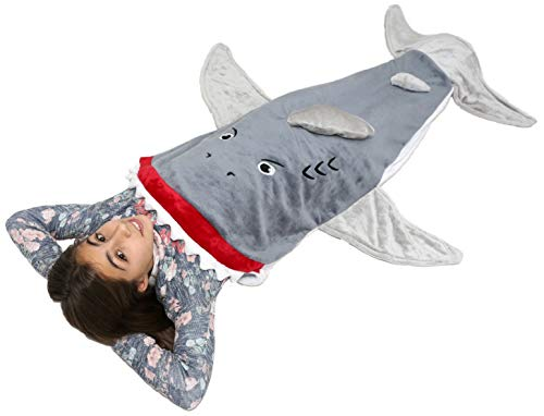 Lovely Pumpkins Shark Tail Blanket for Kids | Shark Sleeping Bag from Exciting Fun and Durability Guaranteed (3-8, -