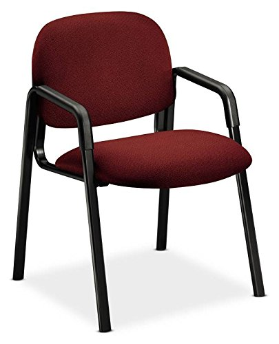 7700 Seating Series (HON 4003AB62T Solutions Seating Leg Base Guest Arm Chair, Olefin, Burgundy)