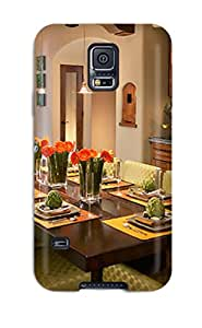 Cute Appearance Cover/tpu PijqUXV4345ULKHR Cottage Dining Room With Industrial-style Sconces And Chandelier Case For Galaxy S5