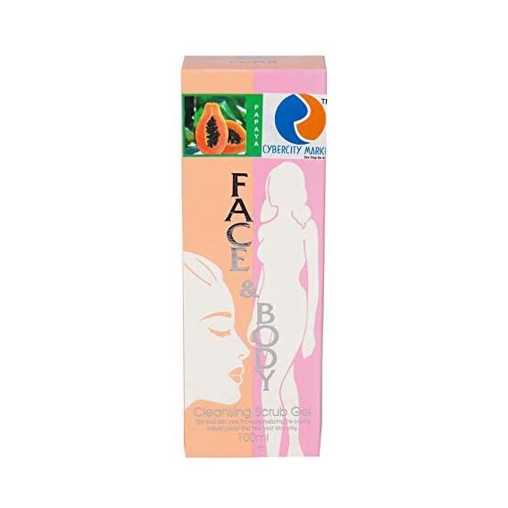 Cybercity Marketing Face And Body Cleansing Papaya Scrub Gel(pack of 1x100ml)