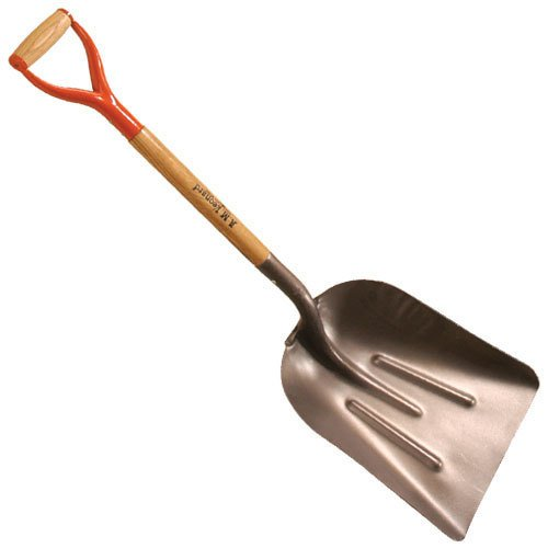 A.M. Leonard Steel Scoop Shovel with D-Grip Handle - Size 10 by A.M. Leonard