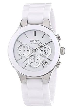 Amazon.com: DKNY esfera de color blanco Chrono pulsera de ...