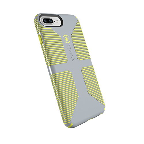 Speck Products CandyShell Grip Cell Phone Case for iPhone 8 Plus/7 Plus/6S Plus/6 Plus - Nickel Grey/Antifreeze Yellow