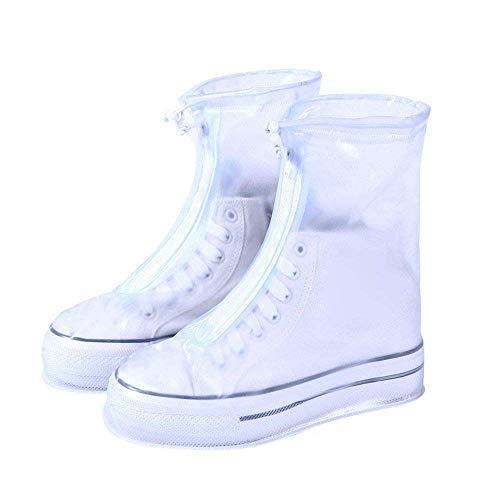 Waterproof Shoe Covers | Reusable | Men Women Kids | Slip Resistant Rain Shoe Covers (S, Transparent)