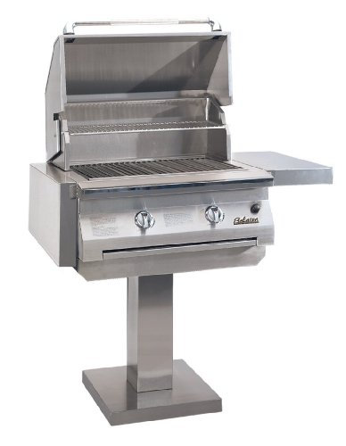 Solaire 30-Inch InfraVection Natural Gas Bolt-Down Post Grill, Stainless Steel