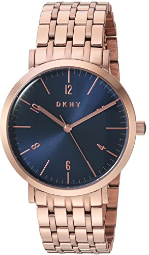DKNY Women's 'Minetta' Quartz and Stainless-Steel-Plated Casual Watch, Color:Rose Gold-Toned (Model: NY2611)