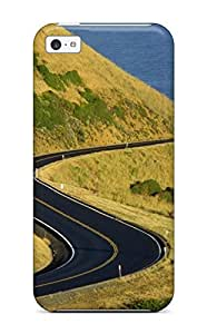 For ZippyDoritEduard Iphone Protective Case, High Quality For Iphone 5c Road Sea Hills Digital Skin Case Cover