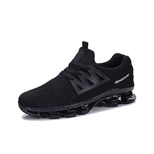 Bangbei Scarpe da Uomo Sneakers Sportive Running Basse Traspirante Nero