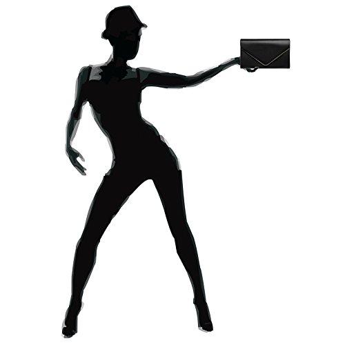 Noir femme CASPAR pour Pochette Fashion nqxRtxI