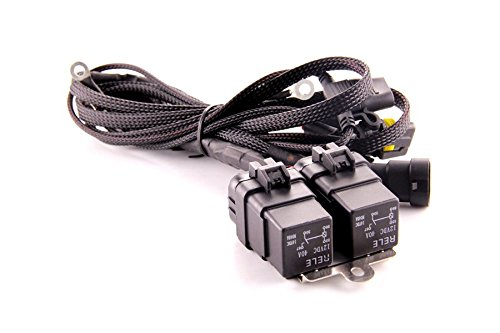 DDM Tuning Heavy Duty Dual Relay HID Harness: Universal 9006 Inputs/Outputs, 1 Year Warranty-FBA