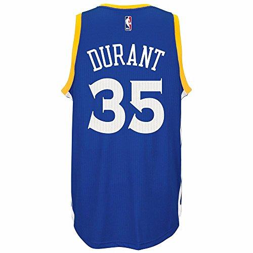 Golden State Warriors Swingman Jersey - adidas NBA Men's-Kevin Durant #35-Golden State Warriors-Swingman Jersey-(Warriors) Blue-Medium