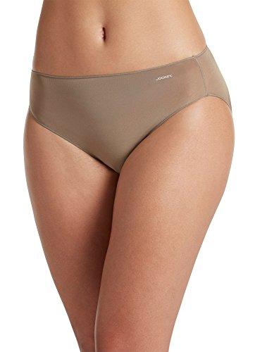 Jockey Women's Underwear No Panty Line Promise Tactel Bikini, deep Beige, 5 ()