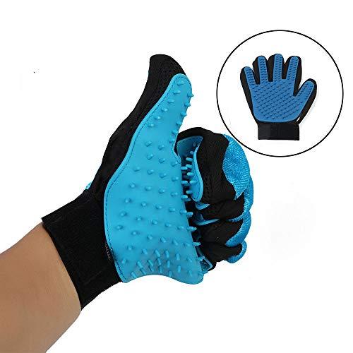 Tanger [Upgrade Version] Pet Grooming Glove – Gentle Deshedding Brush Glove – Efficient Pet Hair Remover Mitt – Enhanced…