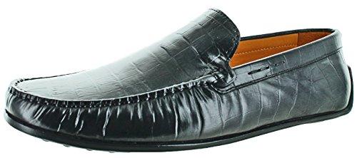Donald J Pliner Iggy Men's Driving Moccasins Loafers Black Size - Black J Men In