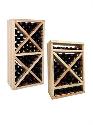 Wine Cellar Innovation Premium Redwood Vintner Series Solid Diamond Cube44; Dark Walnut Stain - 3 ft.