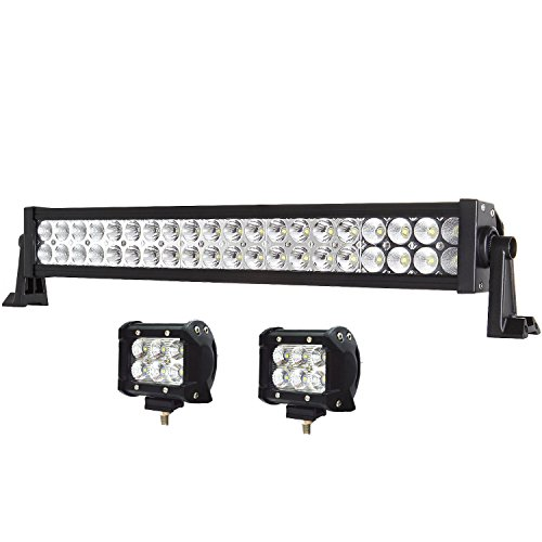 Toyota Pickup Off Road (20 Inch Light Bar, Enk 22 Inch 120W LED Work Light Bar Flood Spot Combo Beam Waterproof for Jeep Off-road SUV ATV Pickup Toyota Wagon Truck with 2 Pcs of 4 Inch 18W Pods)