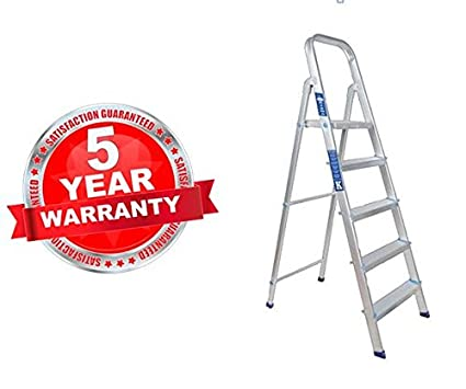 PlutoMax Light Weight High Strength Aluminium Ladders   Ladder for Home use   Ultra Stable
