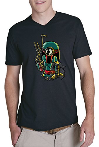 Mini Boba V-Neck T-Shirt Nero