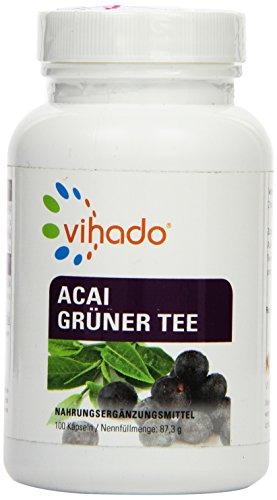 Vihado Acai 6000 Beeren Natur-Komplex, Grüner Tee Extrakt + Vitamin C, 100 Kapseln, 1er Pack (1 x 87,3 g)