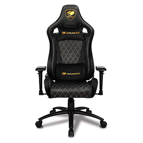COUGAR Gaming Armors Royal - Sillon de Gaming, Ante y Piel sintetica, Color Negro, Mediano