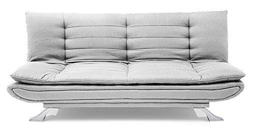 FabHomeDecor Brio FHD319 Three Seater Sofa Cum Bed (LightGrey)