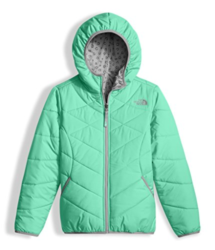 The North Face Girls Reversible Perrito Jacket - Bermuda Green - M by The North Face