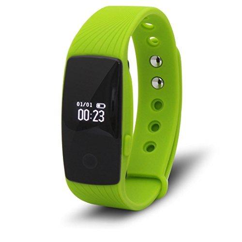 DealMux Esporte Smartband Bluetooth 4.0 Heart Rate Monitor de pulso ativamente de Fitness Rastreador sono inteligente Pulseira Verde