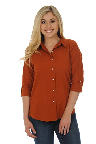 UG Apparel NCAA Texas Longhorns Women's Dress Shirt, Burnt Orange, Medium