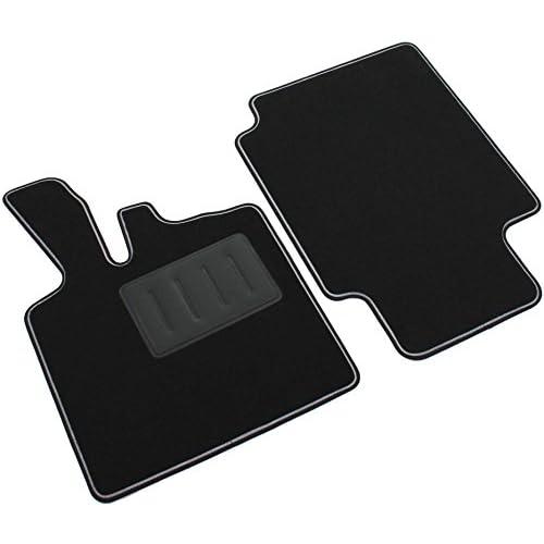 Il Tappeto Auto SPRINT04200 Tapis antidérapants en moquette noire, bord bicolore, talonnette renforcée en caoutchouc, ForTwo W450 modèle de 1998à 2007